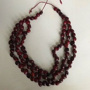 Red seeds necklace